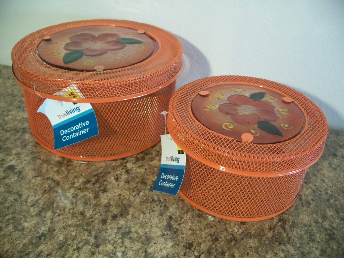 Decorative Container (2 PCS. set orange )