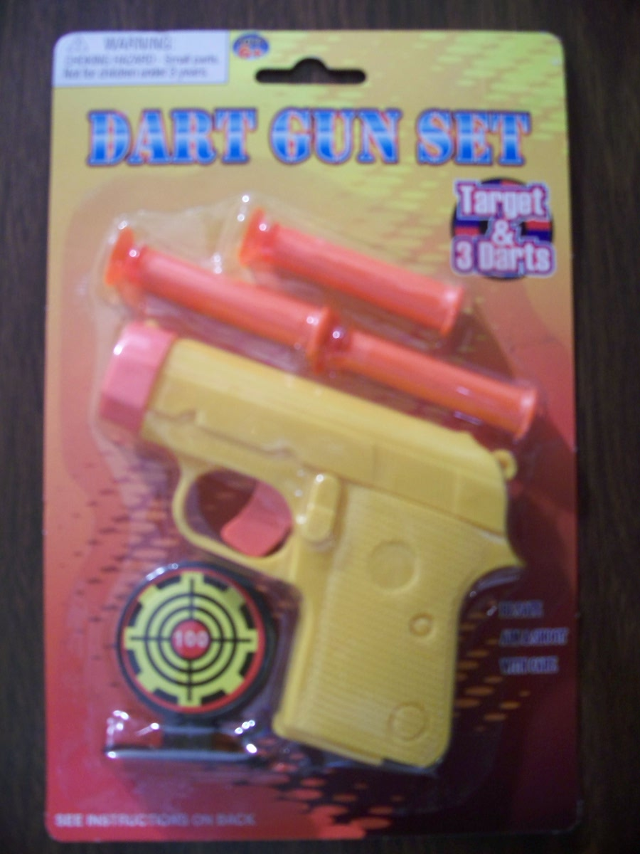 Dart Gun Set (Yellow Gun with Orange Darts )