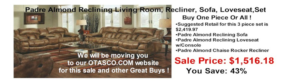 rsbslide2 - Padre Amond Reclining Sofa, Loveseat, Recliner Sale!