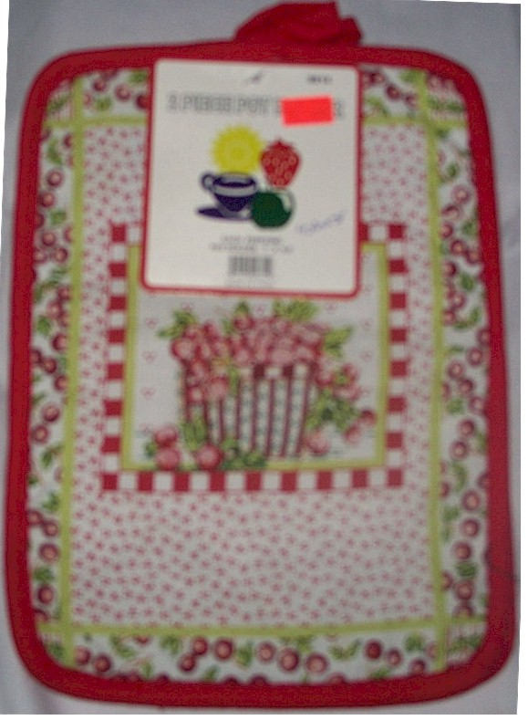 Red / White Oven Hot Pad floral