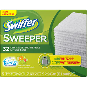Swiffer Sweeper Vacuum Supply Dry Sweeping Refills, Citrus & Lig